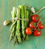 Fresh green organic asparagus Royalty Free Stock Image