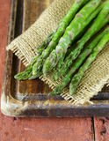 Fresh green organic asparagus Royalty Free Stock Photography