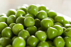 Fresh Green Organic Cooked peas Royalty Free Stock Photography