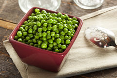 Fresh Green Organic Cooked peas Royalty Free Stock Photos