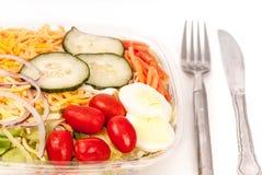 Fresh green organic garden salad Stock Images