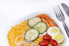 Fresh green organic garden salad Stock Photo