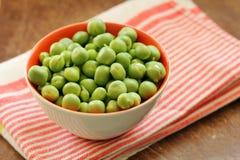 Fresh green organic green peas Stock Image