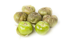 Fresh Green Organic Tomatillo Stock Photos