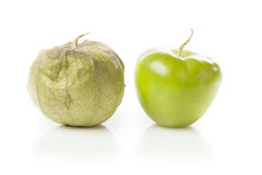Fresh Green Organic Tomatillo Royalty Free Stock Photography