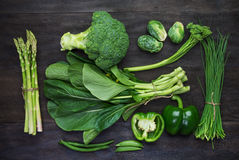 Fresh Green Organic Vegetables Stock Image