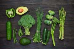Fresh Green Organic Vegetables Royalty Free Stock Photos