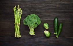 Fresh green organic vegetables Stock Photos