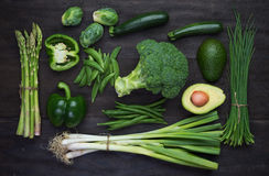 Fresh green organic vegetables Royalty Free Stock Images