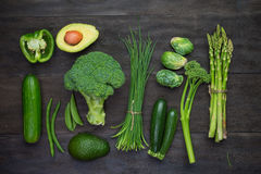 Fresh green organic vegetables Royalty Free Stock Photos