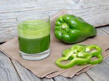Fresh green paprica smoothie juice Royalty Free Stock Photography
