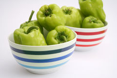 Fresh green paprika Royalty Free Stock Images
