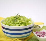 Fresh green paprika Stock Photography
