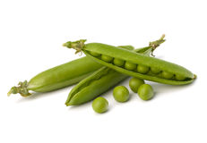Fresh green pea pod Stock Photo