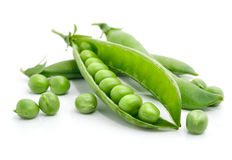 Fresh green pea in the pod isolated Royalty Free Stock Photo