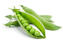 Fresh green pea in the pod isolated Stock Photography