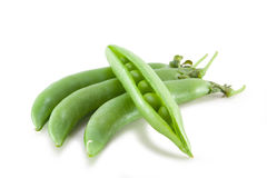 Fresh green pea in the pod isolated Stock Image