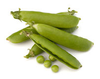 Fresh green pea pod royalty free stock photo