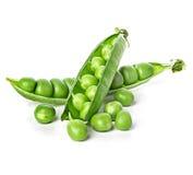 Fresh green pea pod isolated on white Stock Photo