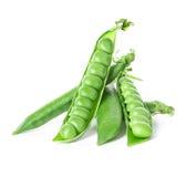 Fresh green pea pod isolated on white. Background Stock Image
