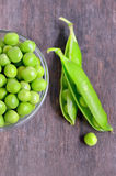Fresh green pea pod Royalty Free Stock Photography