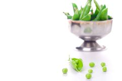 Fresh green pea pod Royalty Free Stock Images