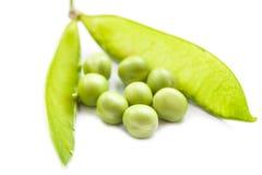Fresh green pea pod and peas. Royalty Free Stock Photos