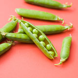 Fresh green pea pods Royalty Free Stock Image