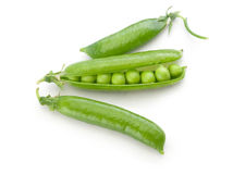 Fresh green pea pods and peas Royalty Free Stock Image