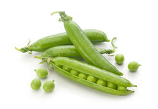 Fresh green pea pods and peas Royalty Free Stock Photography