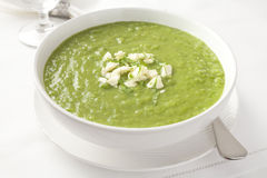 Fresh Green Pea Soup Royalty Free Stock Images