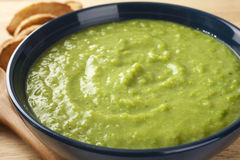Fresh Green Pea Soup Stock Photography