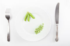 Fresh green pea Royalty Free Stock Image