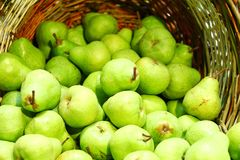 Fresh green pears Royalty Free Stock Photography