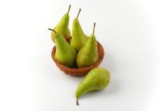 Fresh green pears Stock Photo