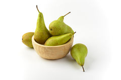 Fresh green pears Stock Images