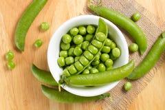 Fresh green peas Stock Image