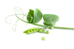 Fresh green peas. On a white background. Studio photo Stock Photo