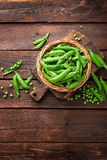 Fresh green peas Royalty Free Stock Photography