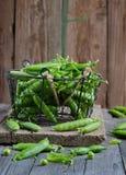 Fresh green peas Royalty Free Stock Photos