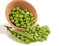 Fresh green peas Royalty Free Stock Images