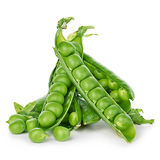 Fresh green peas close-up isolated on a white background. Fresh green peas close-up isolated on a white background Royalty Free Stock Photo