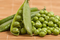 Fresh green peas Royalty Free Stock Photo