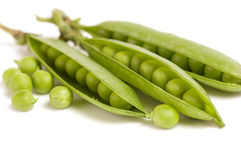 Fresh green peas Stock Photos