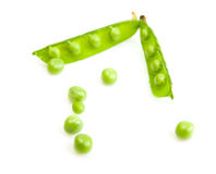 Fresh green peas isolated Stock Photo