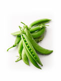 Fresh green peas isolated on a white background. Fresh green peas  on a white background Stock Image