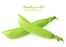Fresh green peas isolated on a white background Royalty Free Stock Photography