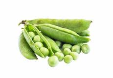 Fresh Green Peas Isolated Stock Photos