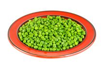 Fresh green peas in the pod isolated on white background.  Stock Image