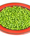 Fresh green peas in the pod isolated on white background.  Royalty Free Stock Photos